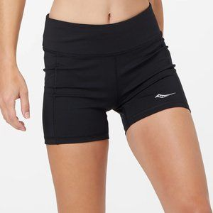 Saucony Women's Active Tight Shorts in Black